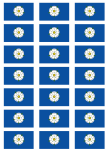 Yorkshire Flag Stickers - 21 per sheet
